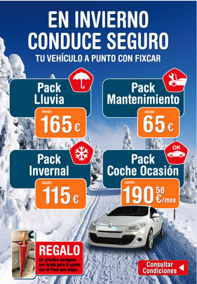 Packs de mantenimiento para tu coche con Fixcar